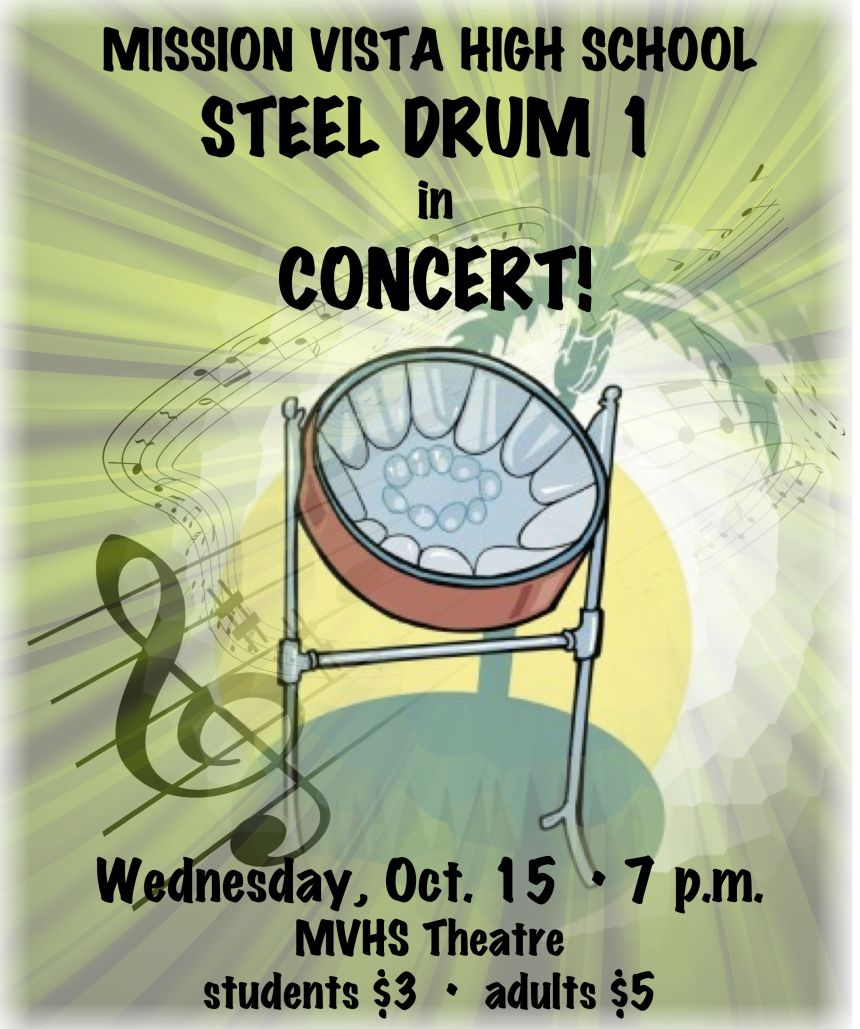 STEEL DRUM 1 Concert Flyer